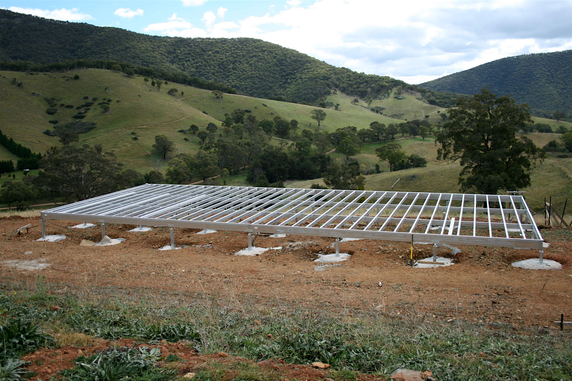 Boxspan floor frame in a rural area of high bushfire danger