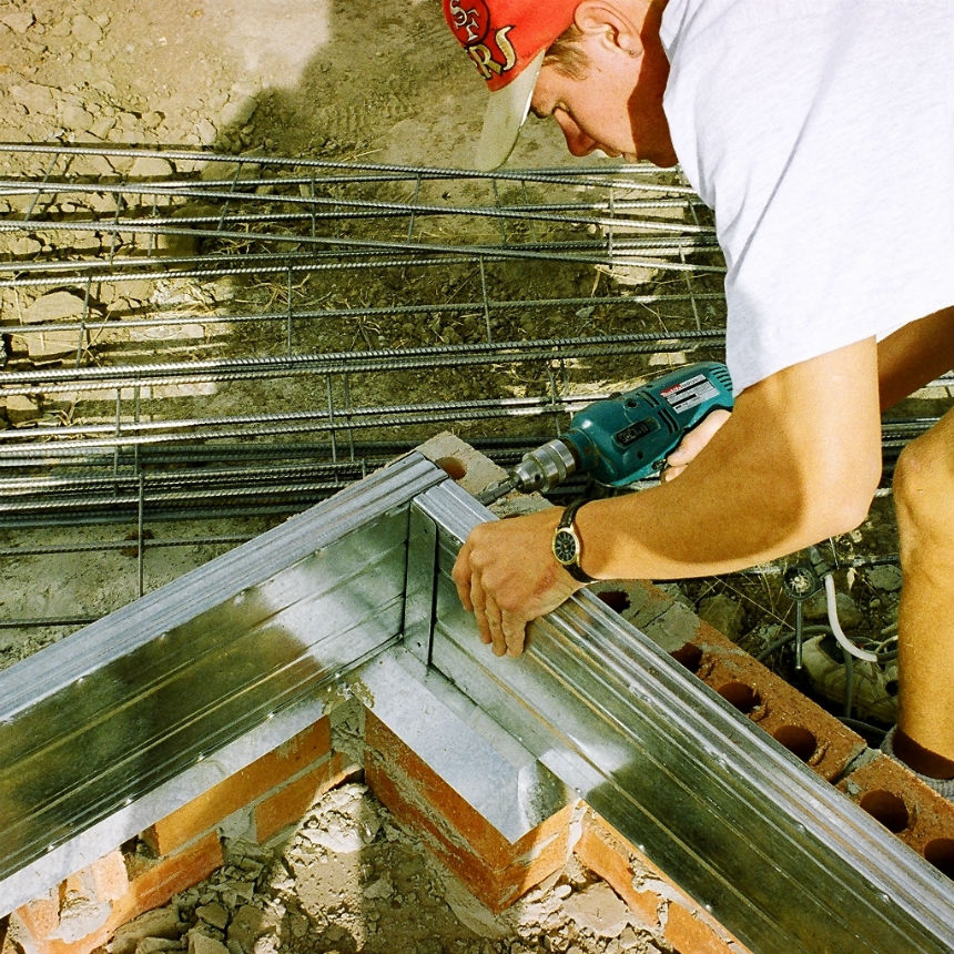 First-framing-brackets-square