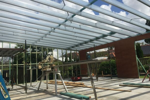 Boxspan steel rafters on timber frame