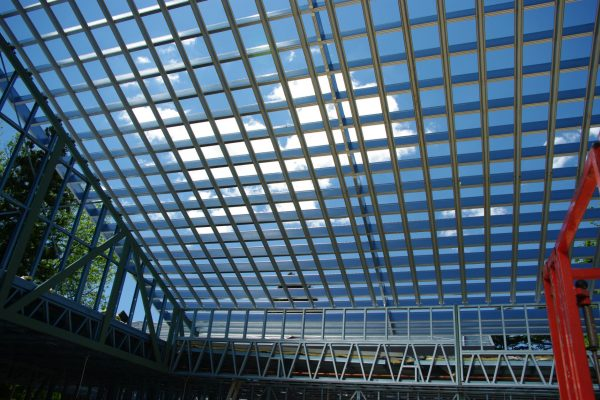 Boxspan commercial school hall roof frame