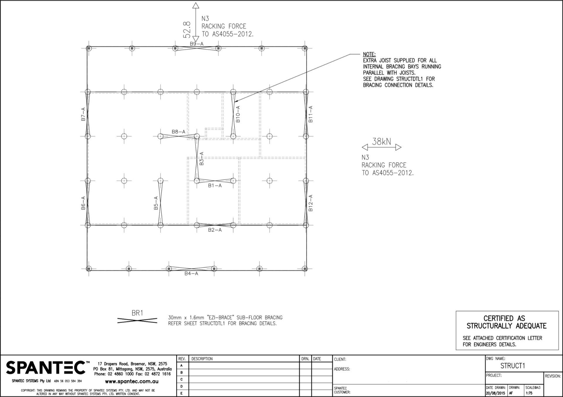 Bracing layout