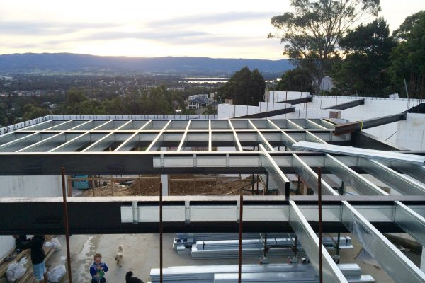 Boxspan upper floor frame with Smartlab flooring above