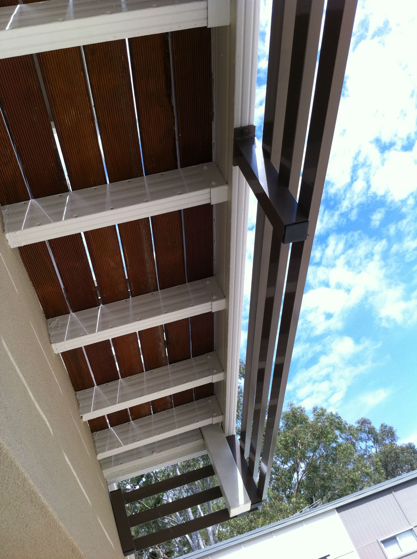 Boxspan steel joists for 2nd storey upper floor frames for Balcony joists