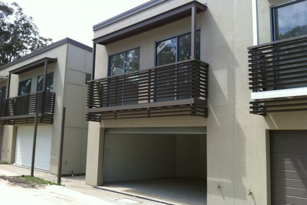 Boxspan steel bearers and joists support cantilevered balconies