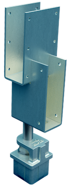 Ezipier Adjustable pier head for raised perimeter internal bearer.