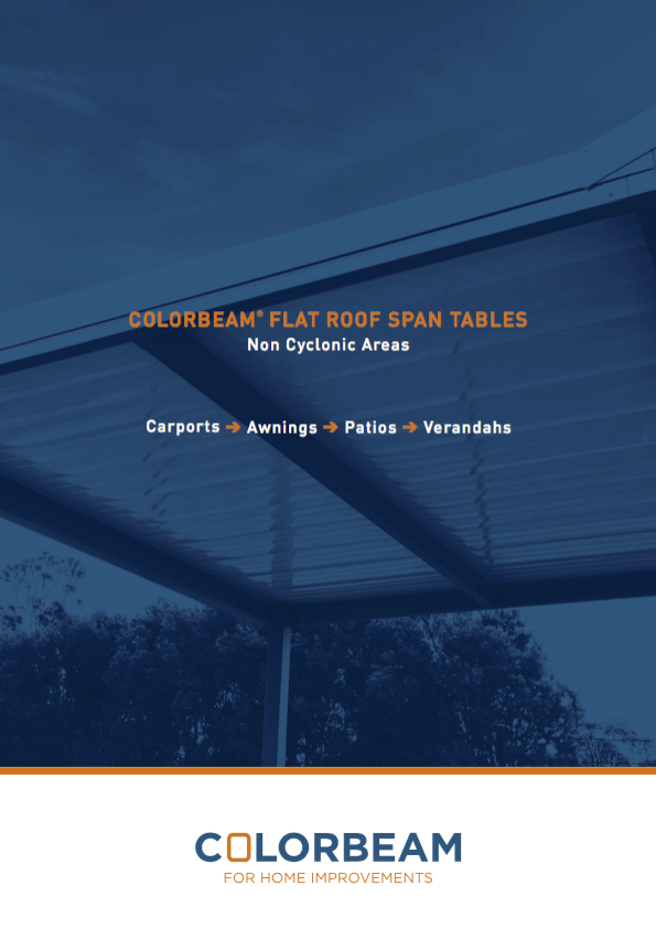 Colorbeam flat roof span tables brochure for non-cyclonic areas