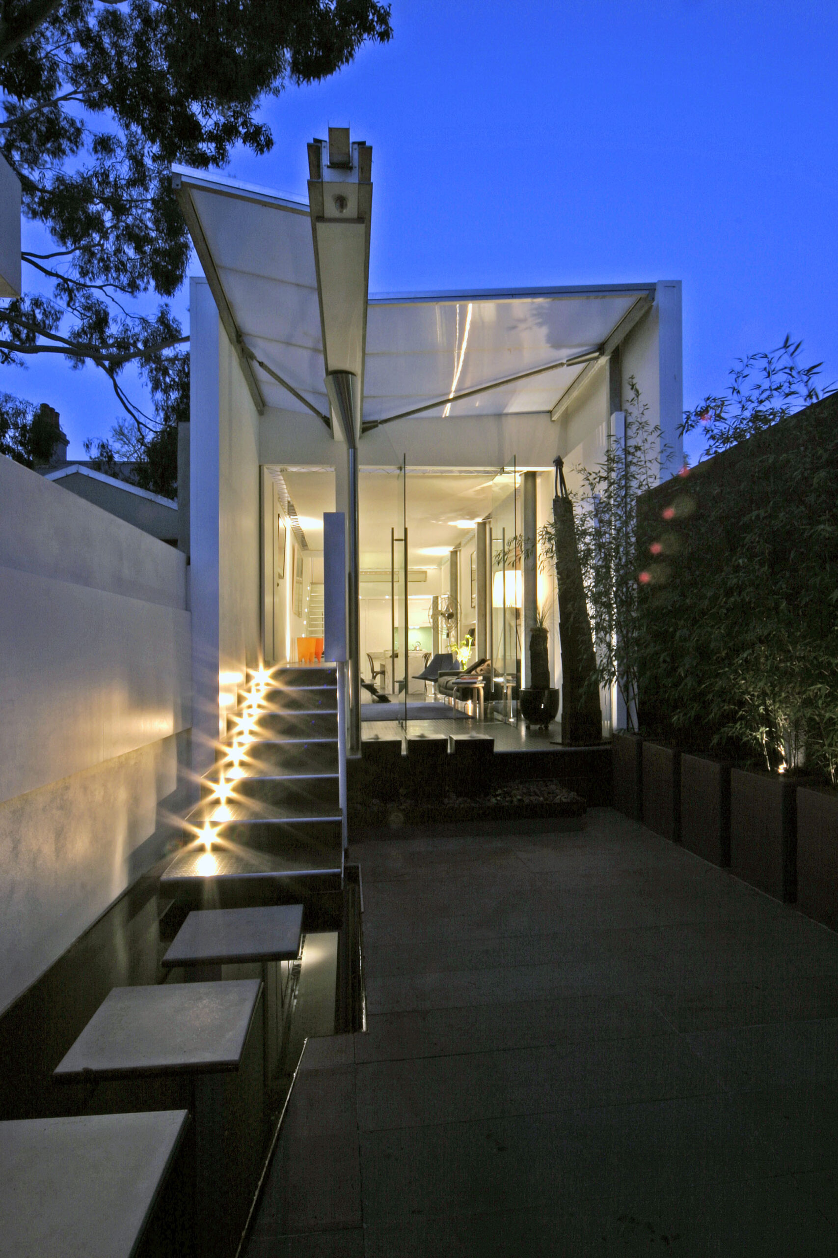 Architecturally designed house with Boxspan roof frame