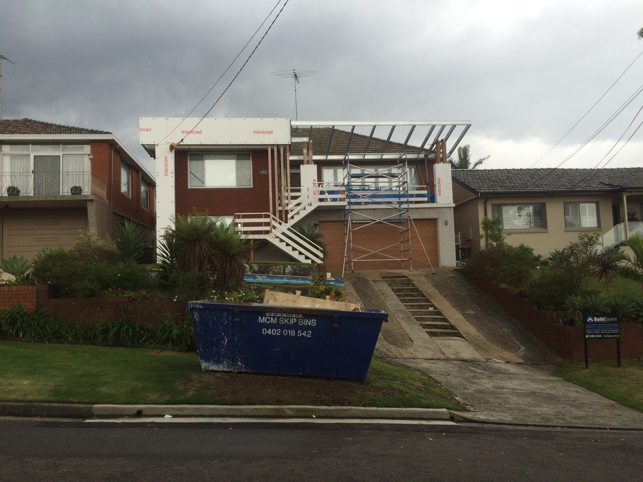 House renovation underway using Boxspan for awning frame