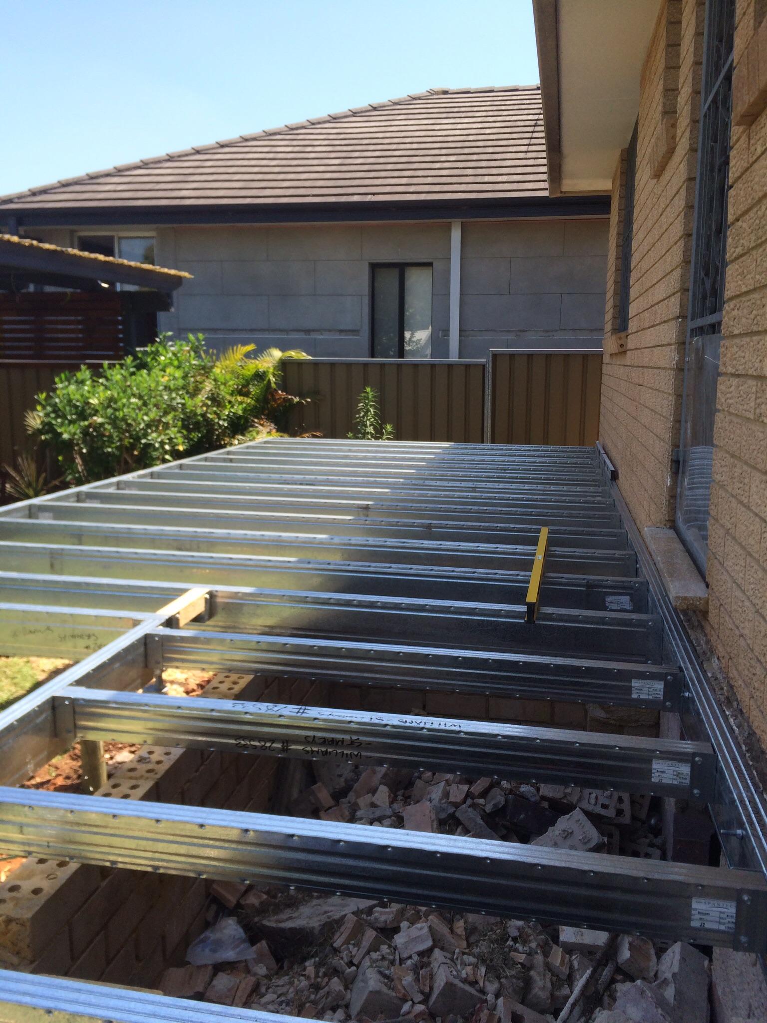 Boxspan deck frame