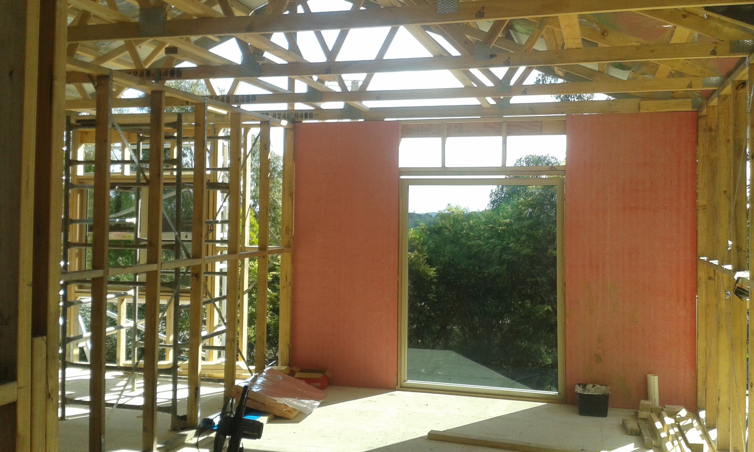 Boxspan floor frame with timber wall framing