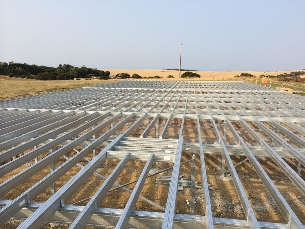 Boxspan floor frame