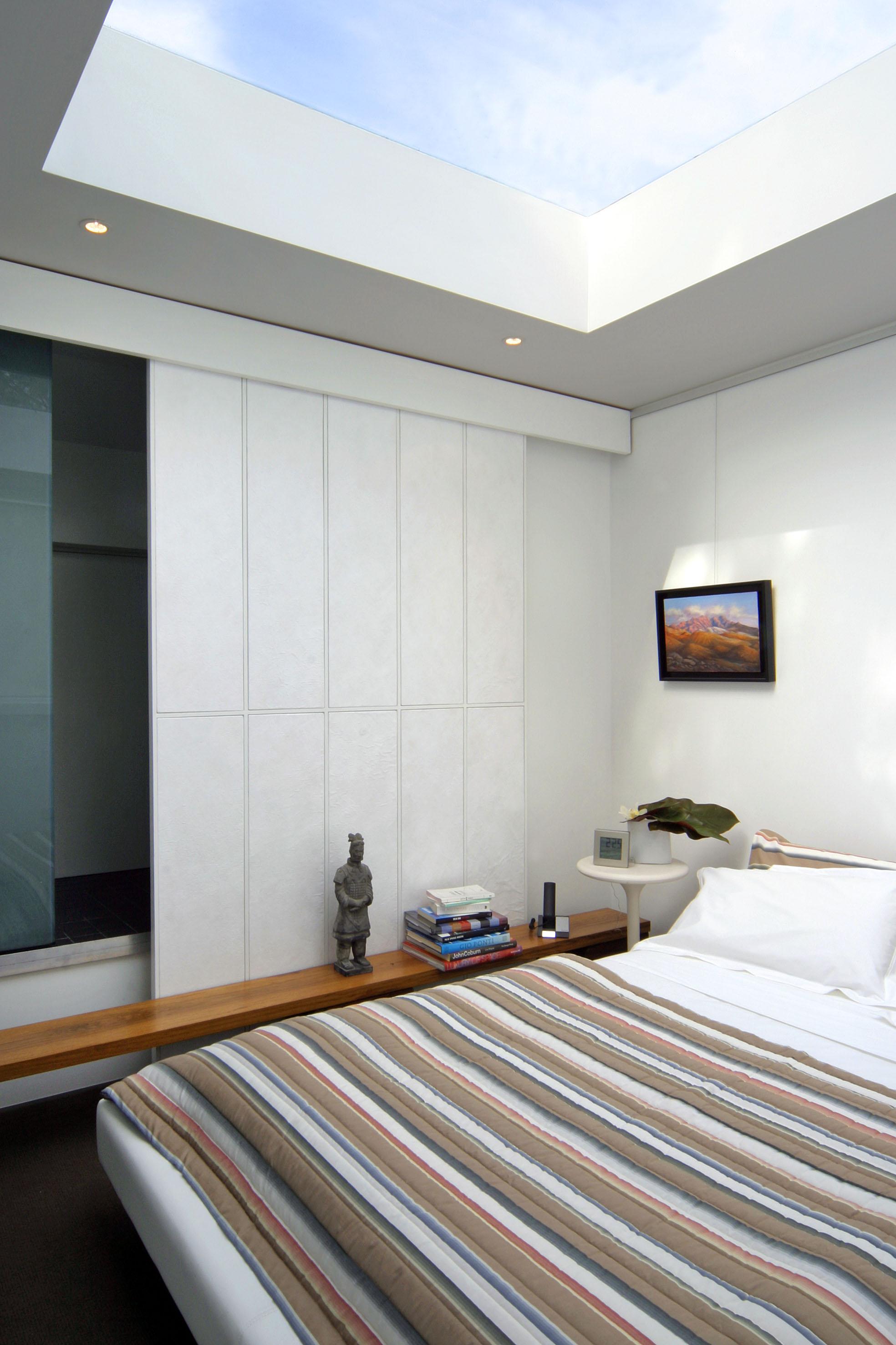 Interior of terrace home built using Boxspan framing