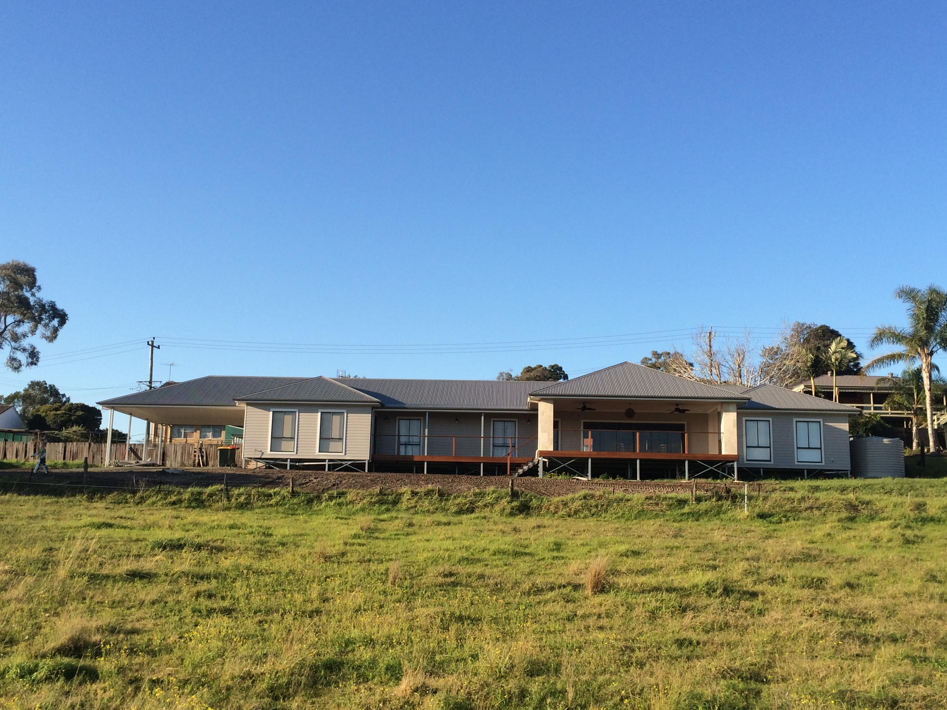 House built on Boxspan floor frame on Ezipier