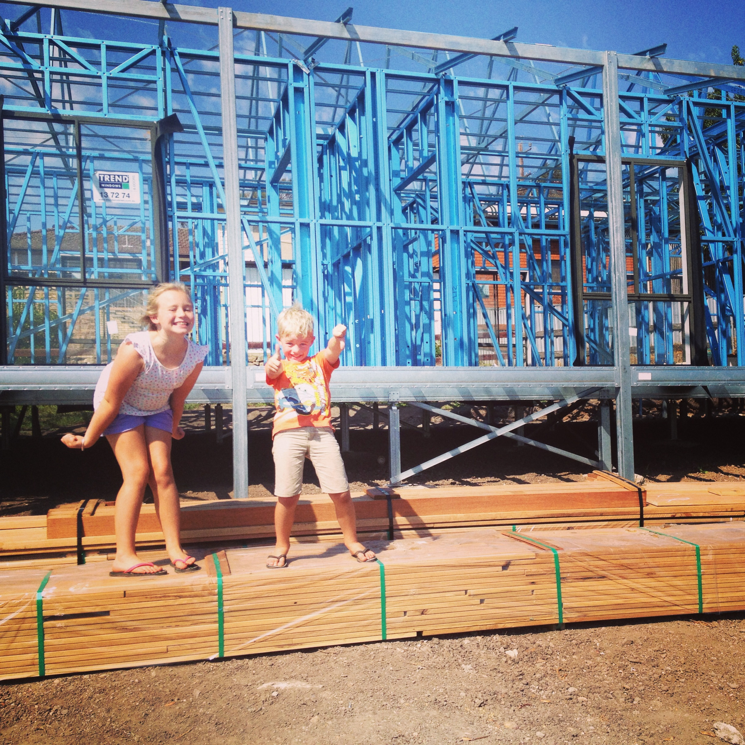 Boxspan floor frame for this steel frame home