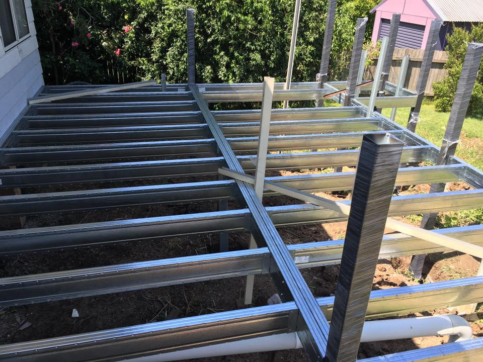Elevated Boxspan deck frame