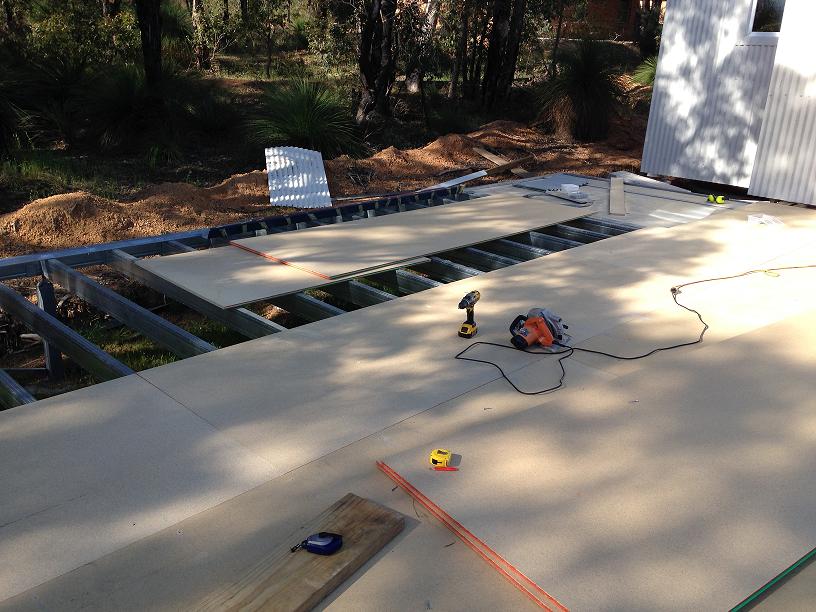 Floor sheet install over Boxspan floor frame