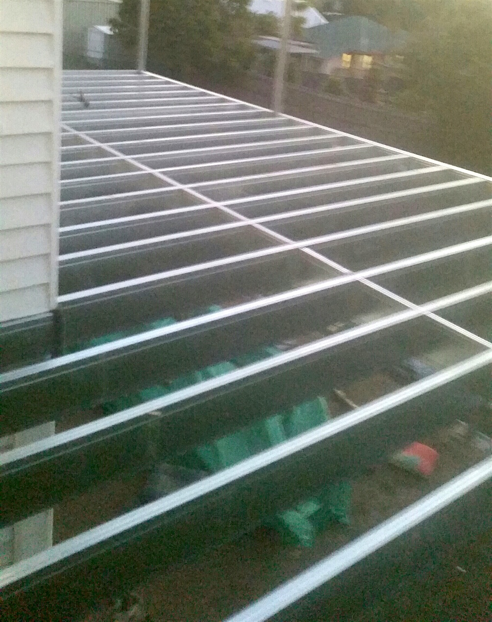 Boxspan deck frame complete and ready for the deck boards to be laid