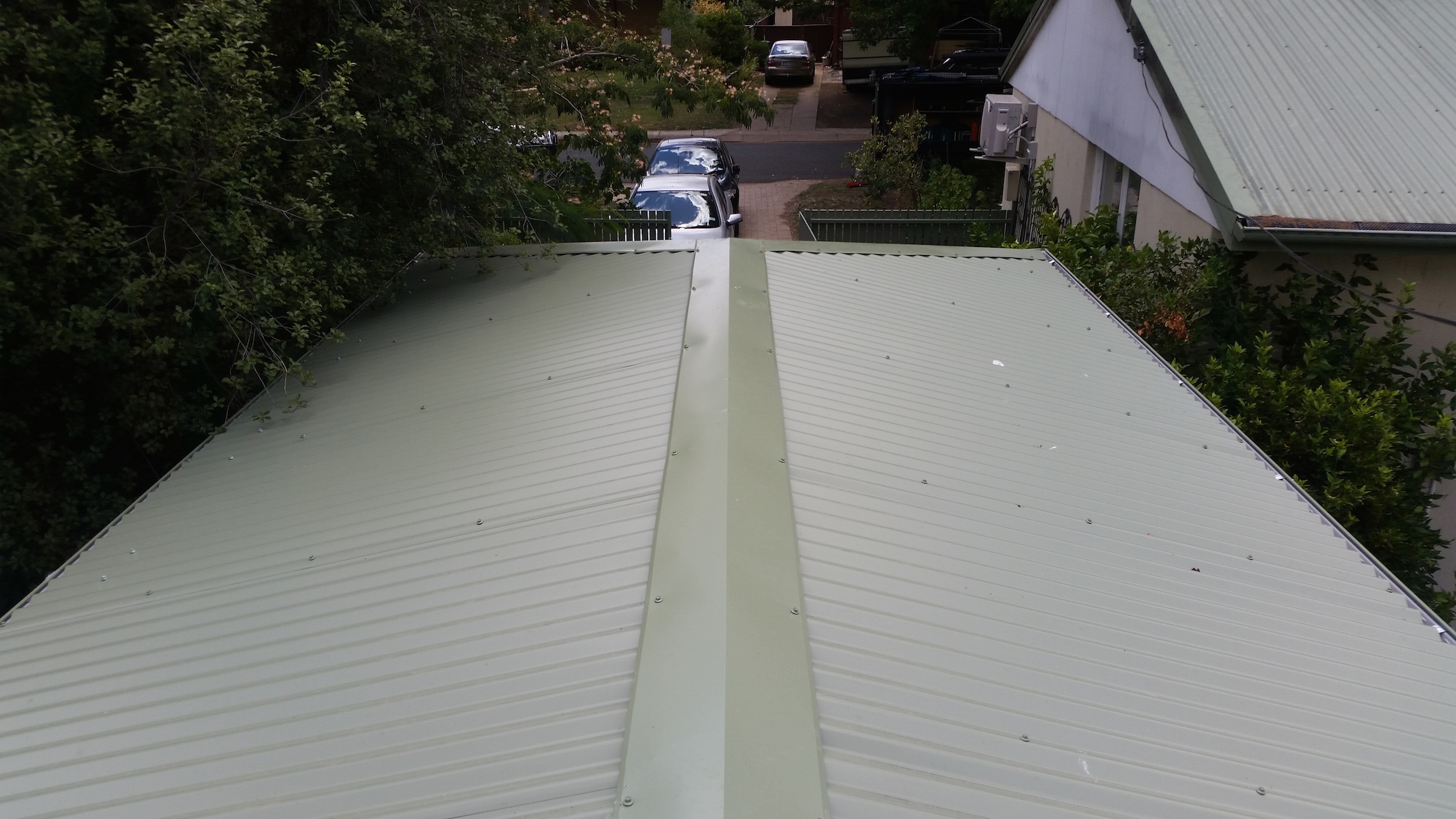 Hipped roof pergola