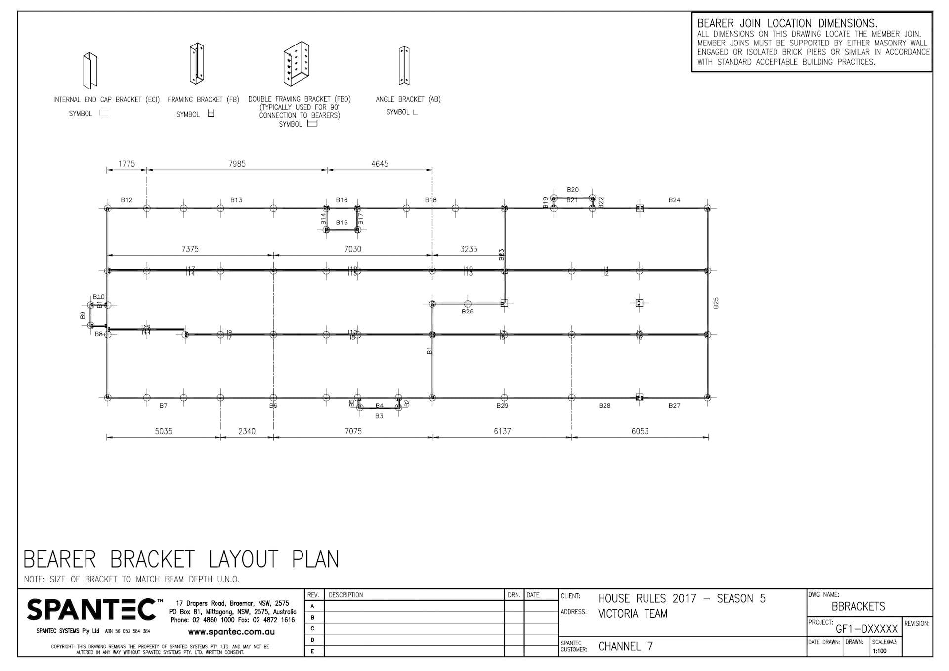 11 bearer bracket layout