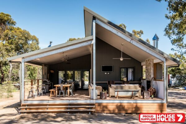 House Rules Victorian house reveal of outdoor area on boxspan floor system