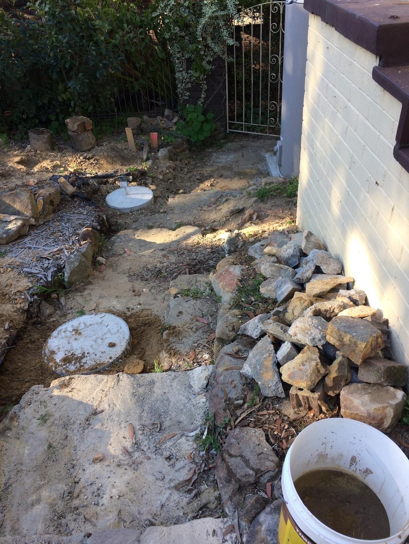 concrete footings poured for ezipier adjustable piers above